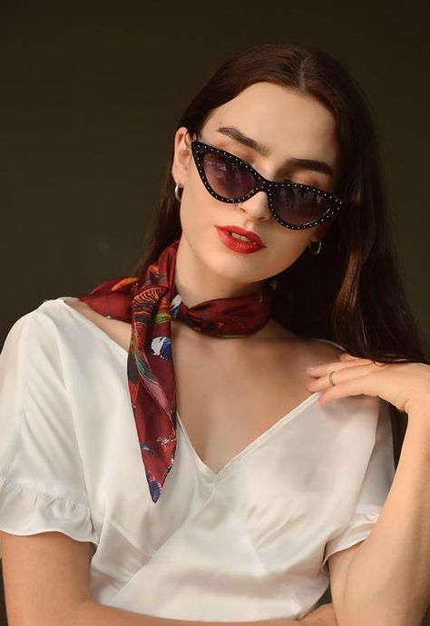 Silk Scarf/ Square Neck Scarf/ Women Silk Scarf/ Gift for Her