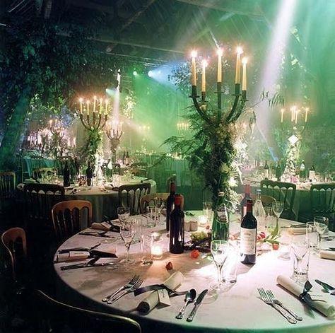 Wedding marquee decor.