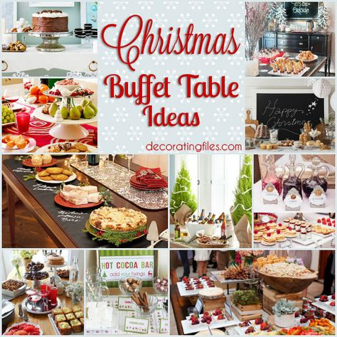 10 Christmas Buffet Table Ideas | Decorating Files | #christmas #holidaybuffettable #christmasbuffettable