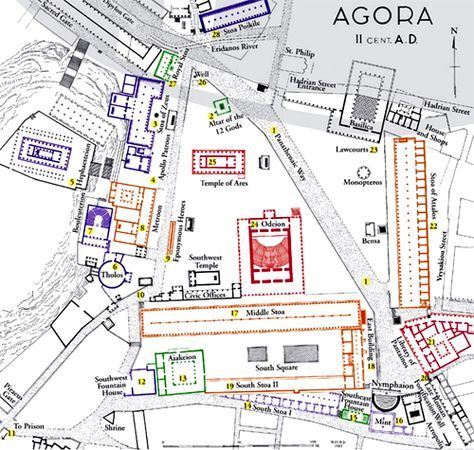 Ancient Agora Of Athens Map Ancient Athens Ancient Greek