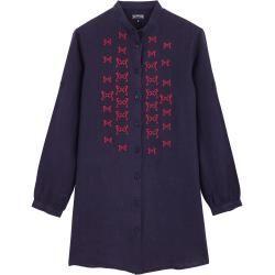 Damen Ready to Wear - Hippocampes Hemdkleid aus Leinen für Damen - Shirt Dress - Franche - Blau - Xx