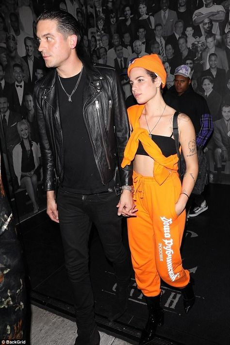 Going public: Halsey and G-Eazy stepped out for a date night in West Hollywood this week f.