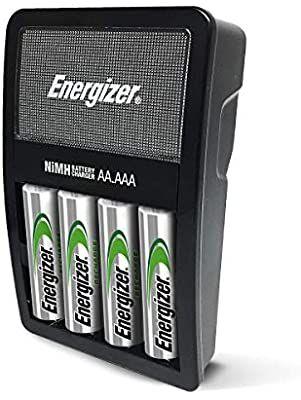 Amazon Com Energizer Cargador De Bateria Recargable Aa Y Aaa Valor De Recarga Con 4 Pilas Aa Nimh Recargables Electro Aaa Battery Charger Nimh Battery Nimh