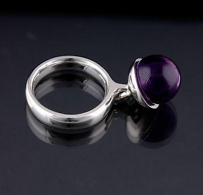 Georg Jensen Sterling Silver Sphere Ring # 473 A, Amethyst. Regitze Overgaard