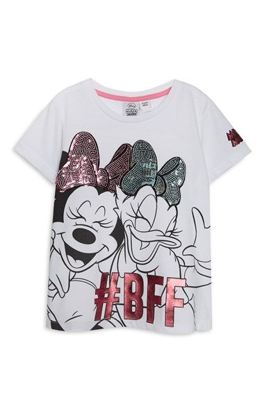 Ladies Primark Disney Mickey Mouse /& Friends Sequin Bow Nightwear T-shirt Shorts