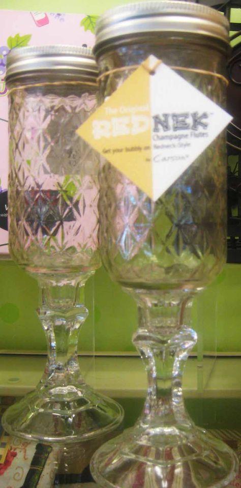 Redneck Champagne Flutes from Hallmark - LOVE!