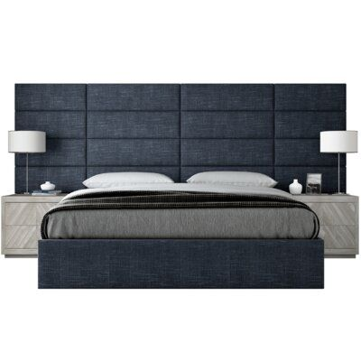 Orren Ellis Lewellyn Upholstered Platform Bed Wayfair In 2020 Bed Furniture Design Bedroom Bed Design Pallet Furniture Headboard