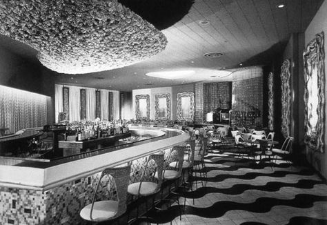 the bar at the americana hotel bal harbor miami fl1956 midcentury pinterest architects mid century and balconies