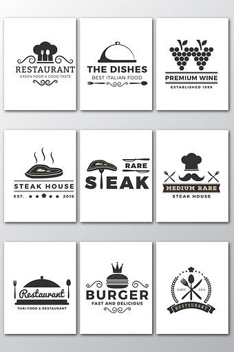 Western Food Industry Logo Vector Graphic Png Images Ai Free Download Pikbest Western Food Industry Logo Free Logo Templates