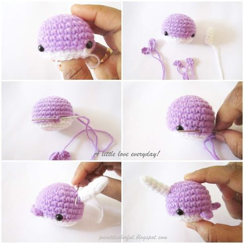 Walden the narwhal (or whale!) amigurumi pattern | hookabee | 474x474