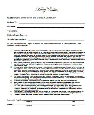 Amp Pinterest In Action Cake Order Forms Wedding Cake Order Form Order Form