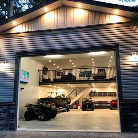 Garage Ideas For a MAN CAVE! Declutter and organize your garage then turn it into a man cave. Garage storage and organization ideas to take your garage from cluttered mess to organized success. LOTS of garage makeover pictures before and after!
