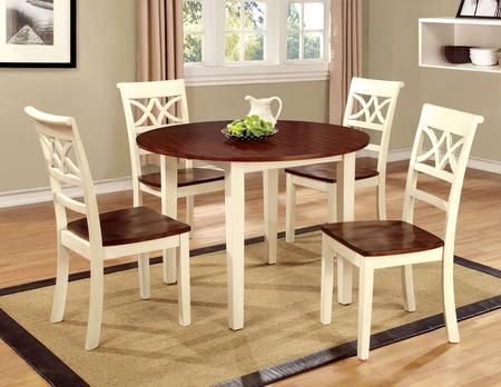 Dover Ii Collection Cm3326wcrt4sc 5 Piece Dining Room Set With Round Table And 4 Side In Vintage In 2020 Black Dining Chairs Furniture Side Chairs