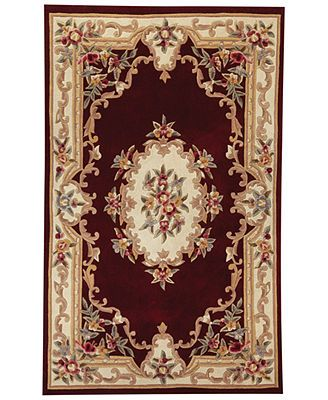 Closeout1 Kenneth Mink Rugs Empress Aubusson Burgundy