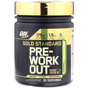 Optimum Nutrition Gold Standard Pre Workout Green Apple 10 58 Oz 300 G Optimum Nutrition Gold Standard Optimum Nutrition Preworkout