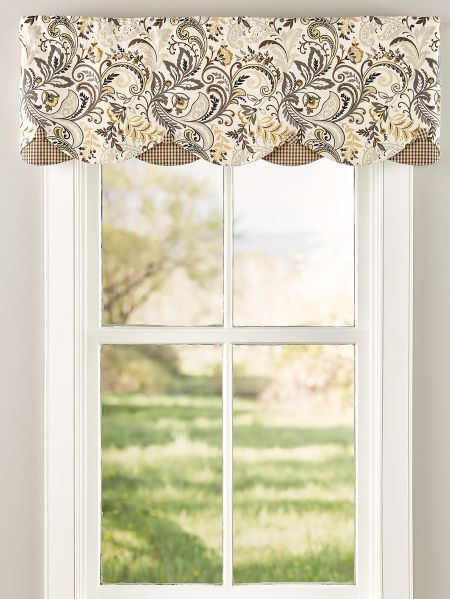 Emerson Rod Pocket Layered Valance | Kitchen window ...