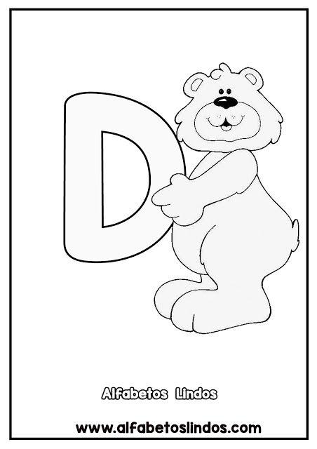 Atividades Alfabeto Urso Fofo Para Imprimir Urso Fofo Moldes