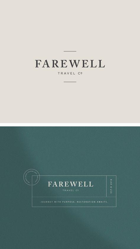 Travel Brand Design: Farewell Travel Co. // Sarah Ann Design