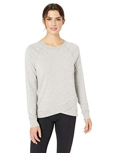 Essentials Womens Studio Long-Sleeve Cross-Front Hoodie