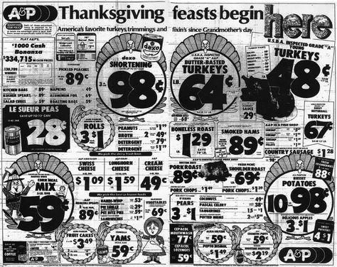 BIRMINGHAM REWOUND remembers November 1977 #A&P #Thanksgiving #ad #print #newspaper