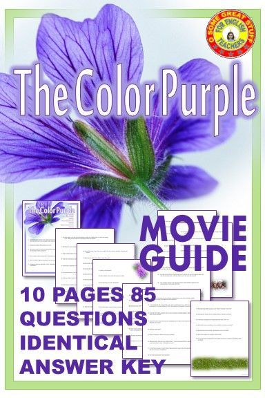 The Color Purple Movie Guide With Detailed Key Digital Enabled American Literature Lessons Movie Guide Literature Lessons