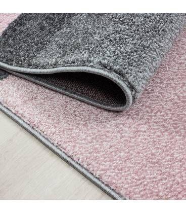 Carpet Modern Designe Rug Living Room Low Pile Blocs Optics Grey Pink Rugs In Living Room Living Room Leather Living Room Grey