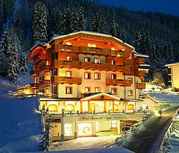 Enjoy alpine skiing, snowboarding, and snowshoeing at the Hotel Chalet del Sogno, Madonna di Campiglio