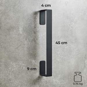 Handtuchhalter Senkrecht In Schwarz Edelstahl 45cm Ohne