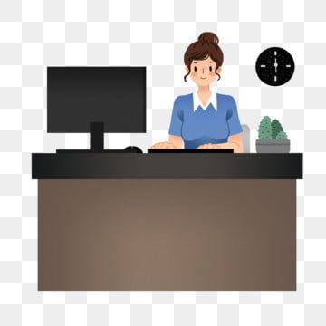 Woman Working At The Computer Work Computer Woman Working In Front Of Computer Png Transparent Clipart Image And Psd File For Free Download Clip Art Cute Disney Wallpaper Prints For Sale