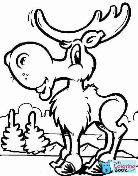 Free Printable Moose Coloring Pages For Kids Throughout Cartoon Moose Coloring Pages Free Download