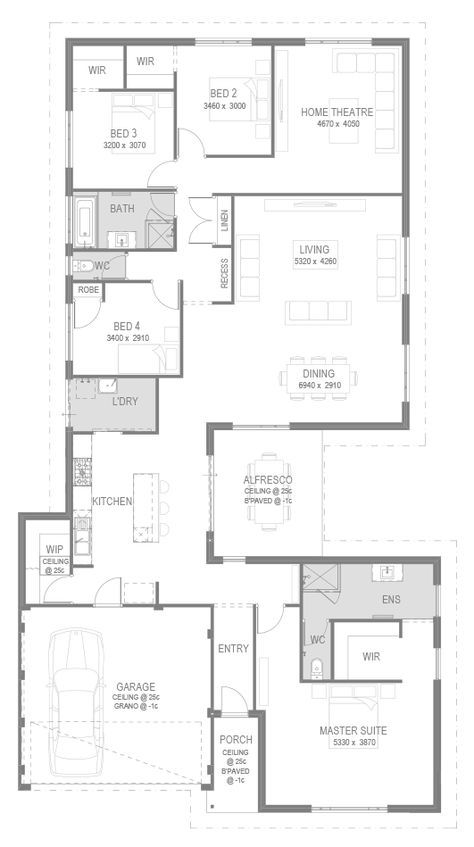 The Zambia 4 Bed 2 Bath 15m House Model From 194 490 Loft Floor Plans House Plans Cabin Floor Plans