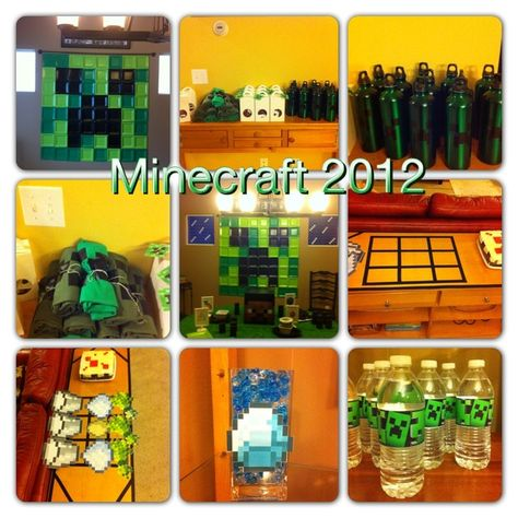 "Photo 1 of 34: Minecraft Birthday Party / Birthday ""Colin's 9th Birthday"" 
