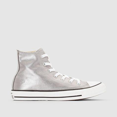 zapatillas mujer converse plateada