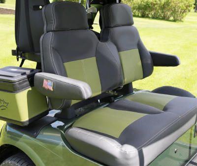 Golf Cart Custom Seats That Will Have You Riding In Comfort Golf Cart Accessories Custom Golf Carts Golf Carts