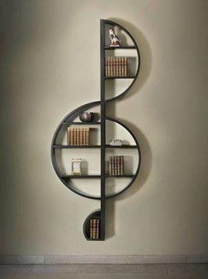 Treble clef shelf   Home   Pinterest   Treble clef, Musica and Shelves