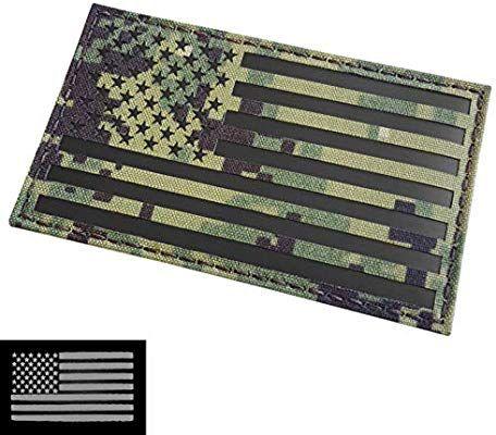 Ir Large 3x5 Aor2 Usa American Flag Nwu Type Iii Us Navy Seals Devgru Infrared Hook Loop Patch Us Navy Seals Patches American Flag