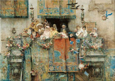 Jose' Benlliure y Gil, Carnevale di Roma, 1881