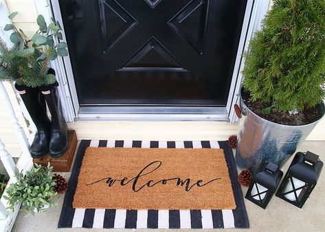 Layered Doormats Are the Hottest Trend to Hit Your Front Door | Hunker  -  #door #Doormats #front #FrontDoormat #Hit #Hottest #Hunker #layered #Trend