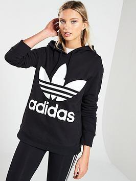 adidas Originals ADICOLOR TREFOIL HOODIE Hoodie black
