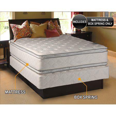 Dream Solutions Double Sided Pillowtop Mattress And Box Spring Set Full Sleep System With Enhanced Cushion Support Full Size Mattress Mattress Soft Mattress