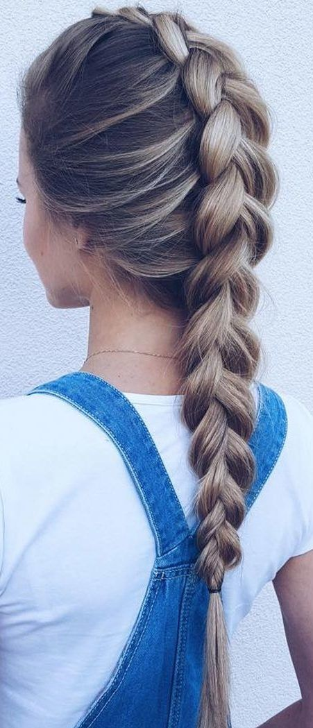 30 French Braids Hairstyles Step By Step How To French Braid Your Own Love Casual Style Hair Styles French Braid Hairstyles Braided Hairstyles