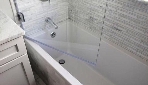 Hinged Splash Guard With Images Tub Doors Glass Tub