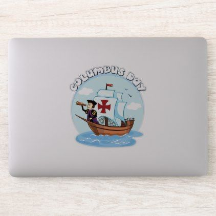 Columbus Day Sticker Zazzle Com Columbus Day Holiday Diy Vinyl Sticker