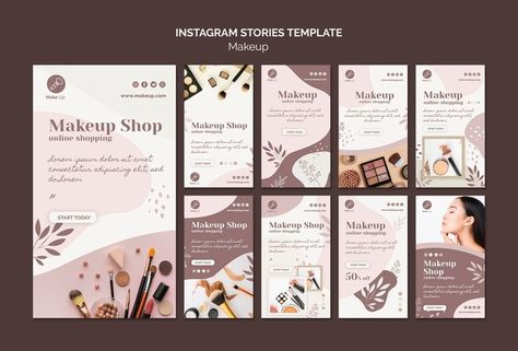Download Make-up Concept Instagram Stories Template for free