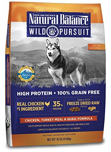 Natural Balance Wild Pursuit High Protein Grain Free Dry Dog Food