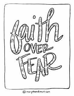 Faith Over Fear Screensaver Coloring Page Bible Verse Coloring