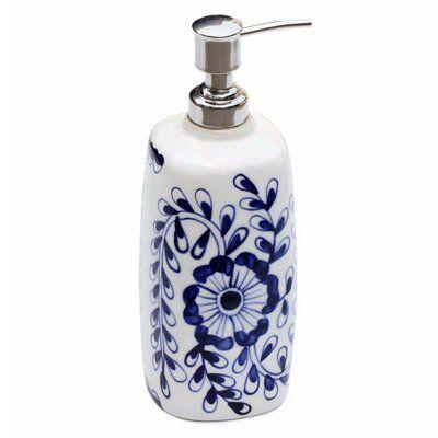 August Grove Lowen Ceramic Liquid Soap Dispenser In 2020 Soap Dispenser Bathroom Accessories Sets White Ceramics