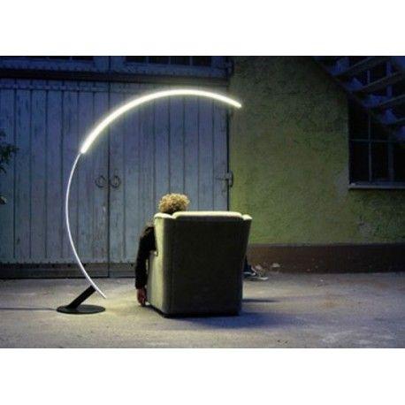 Kundalini Kyudo Lampadaire Led Coulissant Andeo Shop Lampes De Sol Modernes Lampadaire Design Lampe Design