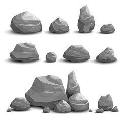 Vector Illustration Of Cartoon Game Art Rocks And Stones Game Art Concept Art Tutorial 2d Game Art