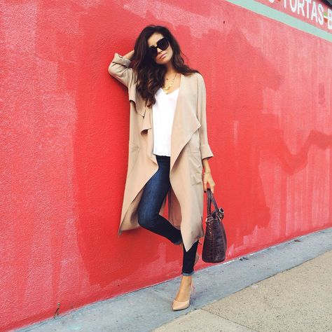 Camel Flowy Belted Trench # Trends Of Fall Apparel Belted Trenches Trench Camel Trench Flowy Trench Clothing Trench 2014 Trench Outfits Trench How To Style